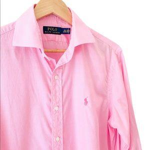 Ralph Lauren Polo Pink Plaid Dress Shirt